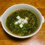 もずくとめかぶと長芋の中華スープ
