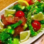 びんちょうマグロと野菜あれこれポキサラダ