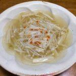 もやしとえのきの中華風スープ