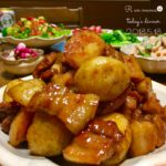 新じゃがいもと豚バラ肉の甘辛炒め煮