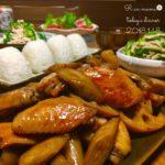 鶏手羽と根菜の炒め煮
