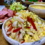 白菜とパプリカの浅漬け