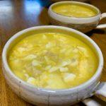 鶏と豆腐の中華コーンスープ